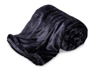 Hebká deka v tmavě modré barvě